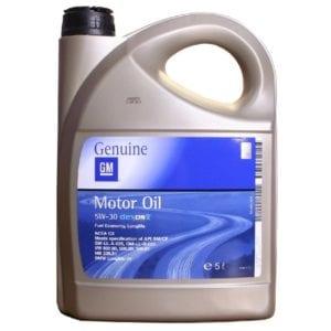 Моторное масло GM 5W30 Dexos2