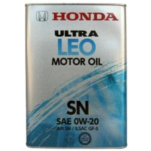 Моторное масло Honda Ultra Leo SN 0W20