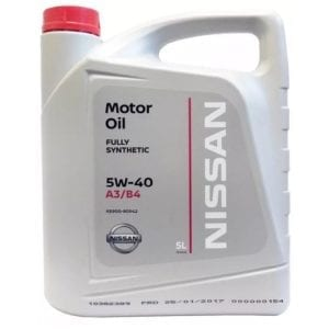 Моторное масло Nissan 5W40 A3/B4