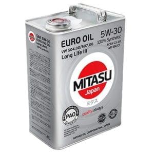 Моторное масло Mitasu Euro PAO LL III Oil 5W30