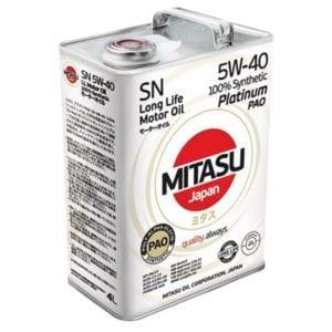 Моторное масло Mitasu Platinum PAO 5W40