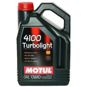Моторное масло Motul 4100 Turbolight 10W40