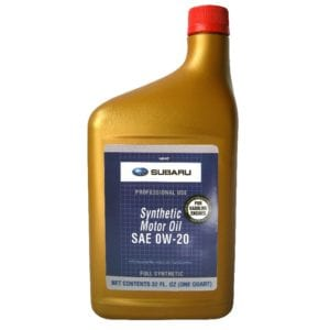 Моторное масло Subaru Synthetic Oil 0W20