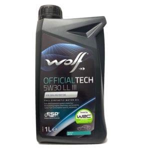Моторное масло Wolf OfficialTech LL III 5W30